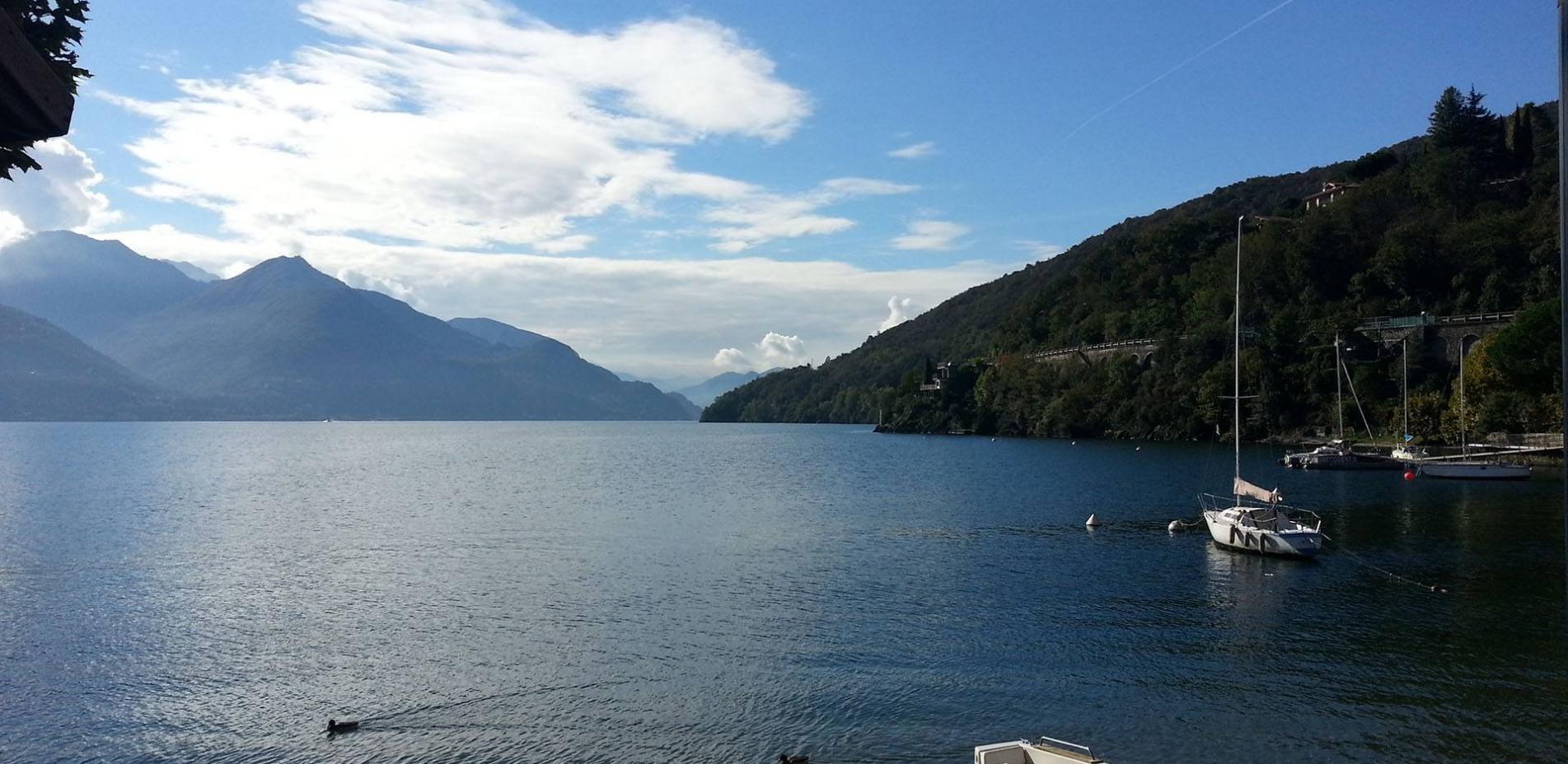 Vista del lago di como